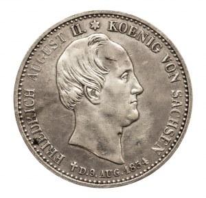 Niemcy, Saksonia, Fryderyk August II 1836-1854, 1/3 talara 1854 - emisja pośmiertna