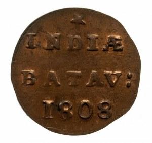 Holenderskie Indie Wschodnie - Republika Batawska, 1/2 duit 1808