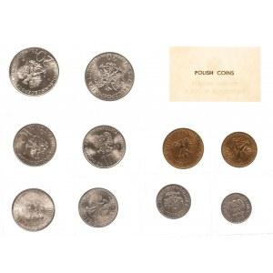 Polska, PRL 1944-1989, Polskie Monety emitowane w 1975 r. - oficjalny zestaw 10 monet