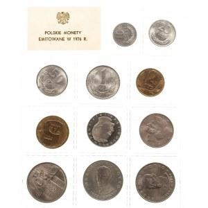 Polska, PRL 1944-1989, Polskie Monety emitowane w 1976 r. - oficjalny zestaw 11 monet