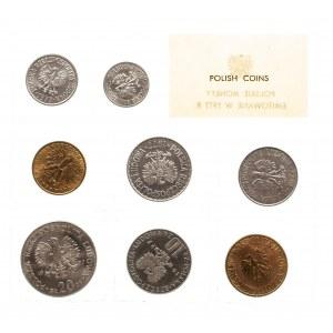Polska, PRL 1944-1989, Polskie monety emitowane w 1977 r. - oficjalny zestaw 8 monet