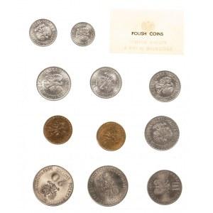 Polska, PRL 1944-1989, Polskie Monety emitowane w 1978 r. - rzadki, oficjalny zestaw 11 monet