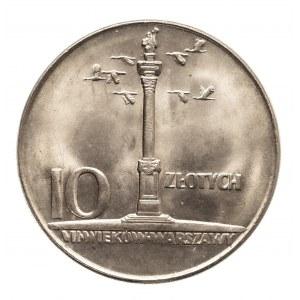 Polska, PRL 1944-1989, 10 złotych 1965 Kolumna Zygmunta (2)