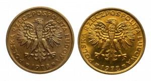 Polska, PRL 1944-1989, 2 złote 1978 - ze znakiem i bez znaku mennicy - 2 sztuki