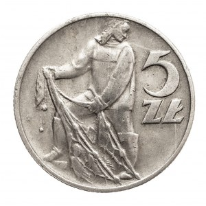 Polska, PRL 1944-1989, 5 złotych 1958