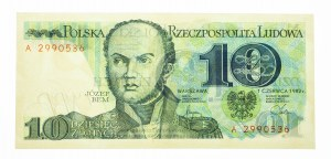 Polska, PRL 1944 - 1989, 10 ZŁOTYCH 1.06.1982, seria A.
