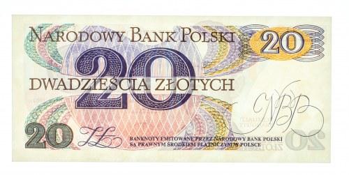 Polska, PRL 1944 - 1989, 20 ZŁOTYCH 1.06.1982, seria R.