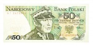 Polska, PRL 1944 - 1989, 50 ZŁOTYCH 1.12.1988, seria GT.