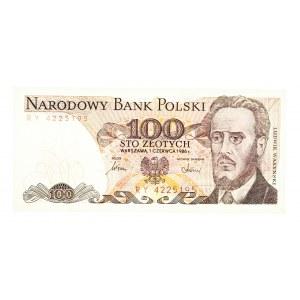 Polska, PRL 1944 - 1989, 100 ZŁOTYCH 1.06.1986, seria RY.