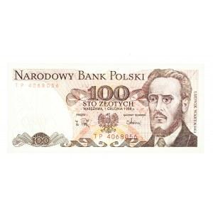 Polska, PRL 1944 - 1989, 100 ZŁOTYCH 1.12.1988, seria TP.