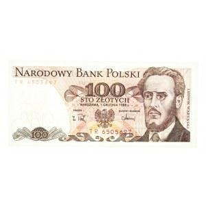Polska, PRL 1944 - 1989, 100 ZŁOTYCH 1.12.1988, seria TR.