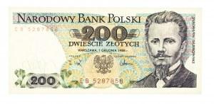 Polska, PRL 1944 - 1989, 200 ZŁOTYCH 1.12.1988, seria EB.
