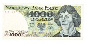 Polska, PRL 1944 - 1989, 1000 ZŁOTYCH 1.06.1982, seria EB.
