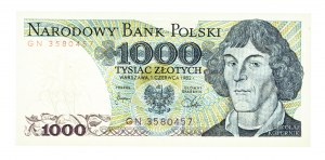 Polska, PRL 1944 - 1989, 1000 ZŁOTYCH 1.06.1982, seria GN.