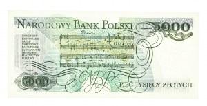 Polska, PRL 1944 - 1989, 5000 ZŁOTYCH 1.12.1988, seria DZ.