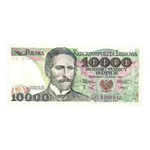 Polska, PRL 1944 - 1989, 10000 ZŁOTYCH 1.12.1988, seria CC.