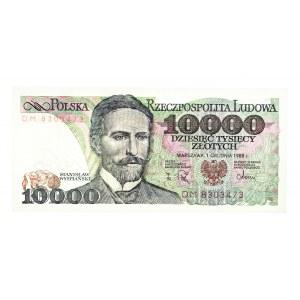 Polska, PRL 1944 - 1989, 10000 ZŁOTYCH 1.12.1988, seria DM.