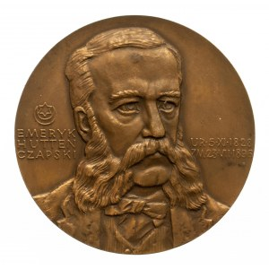 Polska, PRL 1944-1989, medal numizmatyczny PTAiN, 150. rocznica urodzin Emeryka Hutten-Czapskiego 1978, Łódź