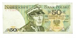 Polska, PRL 1944 - 1989, 50 ZŁOTYCH 9.05.1975, seria C.