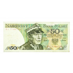 Polska, PRL 1944 - 1989, 50 ZŁOTYCH 9.05.1975, seria BL.