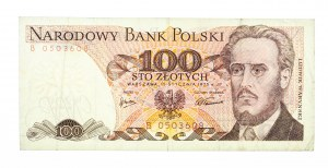 Polska, PRL 1944 - 1989, 100 ZŁOTYCH 15.01.1975, seria B.