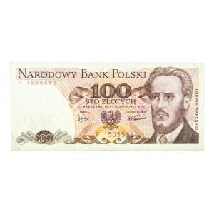 Polska, PRL 1944 - 1989, 100 ZŁOTYCH 15.01.1975, seria F.