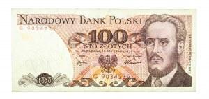Polska, PRL 1944 - 1989, 100 ZŁOTYCH 15.01.1975, seria G.