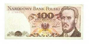 Polska, PRL 1944 - 1989, 100 ZŁOTYCH 15.01.1975, seria Y.