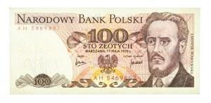 Polska, PRL 1944 - 1989, 100 ZŁOTYCH 17.05.1976, seria AH.
