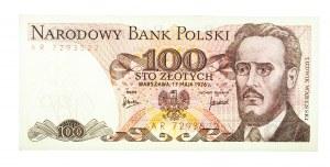 Polska, PRL 1944 - 1989, 100 ZŁOTYCH 17.05.1976, seria AR.
