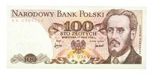 Polska, PRL 1944 - 1989, 100 ZŁOTYCH 17.05.1976, seria BA.