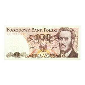 Polska, PRL 1944 - 1989, 100 ZŁOTYCH 17.05.1976, seria DD.