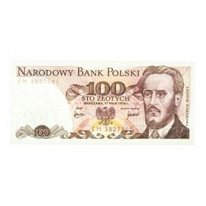 Polska, PRL 1944 - 1989, 100 ZŁOTYCH 17.05.1976, seria EM.