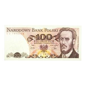 Polska, PRL 1944 - 1989, 100 ZŁOTYCH 1.06.1979, seria EU.