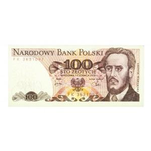Polska, PRL 1944 - 1989, 100 ZŁOTYCH 1.06.1979, seria FK.