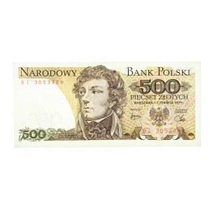 Polska, PRL 1944 - 1989, 500 ZŁOTYCH 1.06.1979, seria BL.