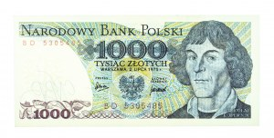 Polska, PRL 1944 - 1989, 1000 ZŁOTYCH 2.07.1975, seria BD.