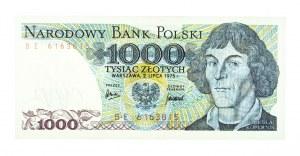 Polska, PRL 1944 - 1989, 1000 ZŁOTYCH 2.07.1975, seria BE.