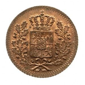 Niemcy, Bawaria, 1 heller (halerz) 1850, Mannheim