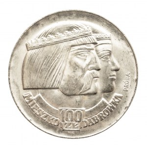 Polska, PRL 1944-1989, 100 złotych 1966 Dąbrówka - Głowy, próba