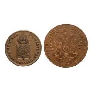 Austria, zestaw monet z XIX wieku - 2 sztuki