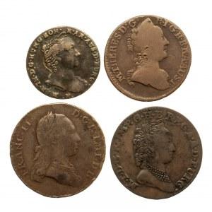 Austria, zestaw monet z XVIII wieku - 4 sztuki