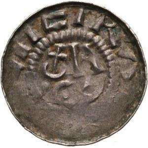 Niemcy, Saksonia - anonimowi biskupi sascy, denar krzyżowy typu dewenterskiego