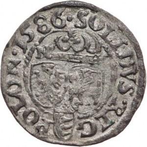 Polska, Stefan Batory 1576-1586, szeląg 1586, Olkusz