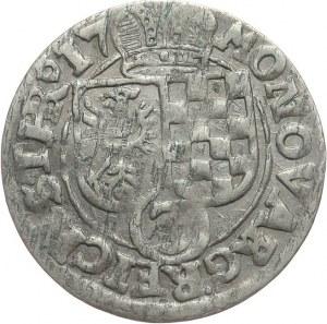 Śląsk, Księstwo Legnicko-Brzesko-Wołowskie, Jan Krystian Brzeski i Jerzy Rudolf Legnicki 1602-1621, 3 krajcary 1617, Złoty Stok