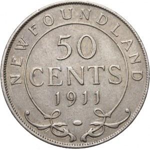 Kanada, Nowa Fundlandia - Jerzy V 1910 - 1936, 50 centów 1911