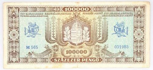 Węgry, Magyar Nemzeti Bank, 100000 pengo 23.10.1945, Budapeszt.