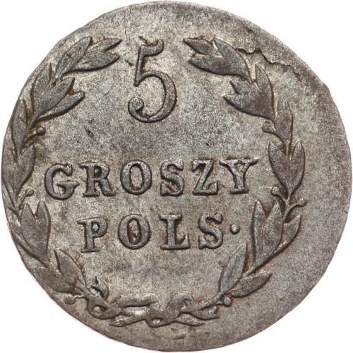 Królestwo Polskie, Aleksander I 1815-1825, 5 groszy 1819 I.B., Warszawa