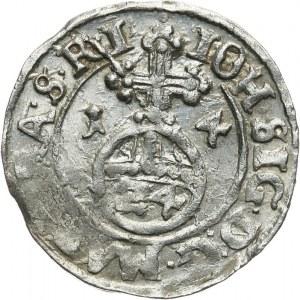 Prusy Książęce, Jan Zygmunt 1608-1618, grosz pruski 1614, Drezdenko.