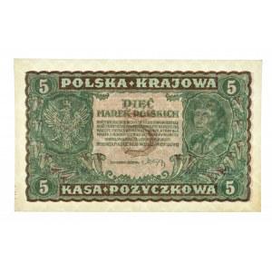 Polska, II Rzeczpospolita 1919 - 1939, 5 MAREK POLSKICH, 23.08.1919, II Serja AW.